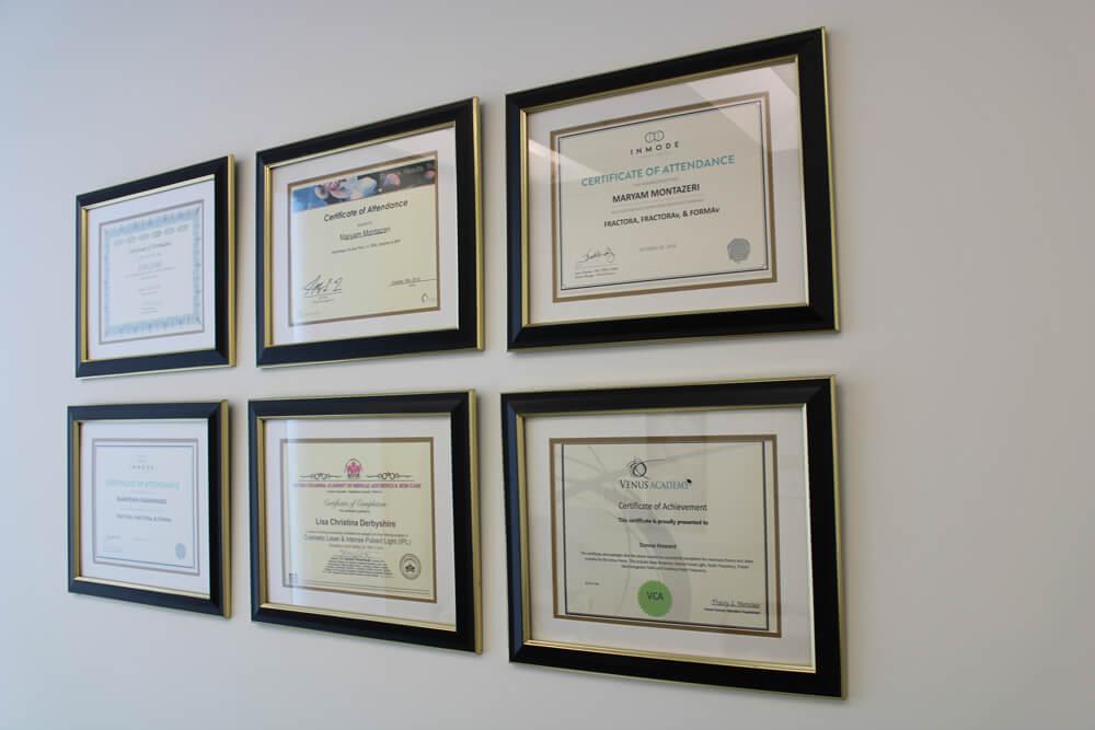 Celebrity Skin Care Certificates