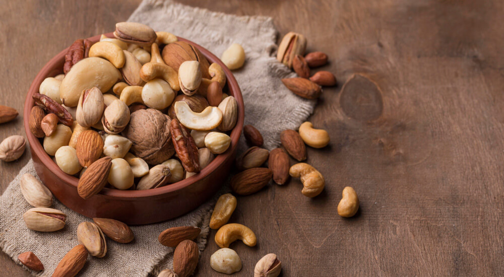 Nuts, good resource of vitamin E